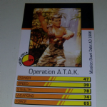 Action Man Power Cards 1996 Operation A.T.A.K. Trading card @sold@